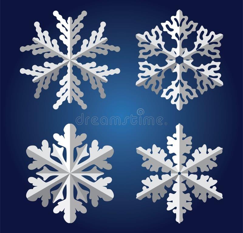 origami płatek śniegu ilustracji