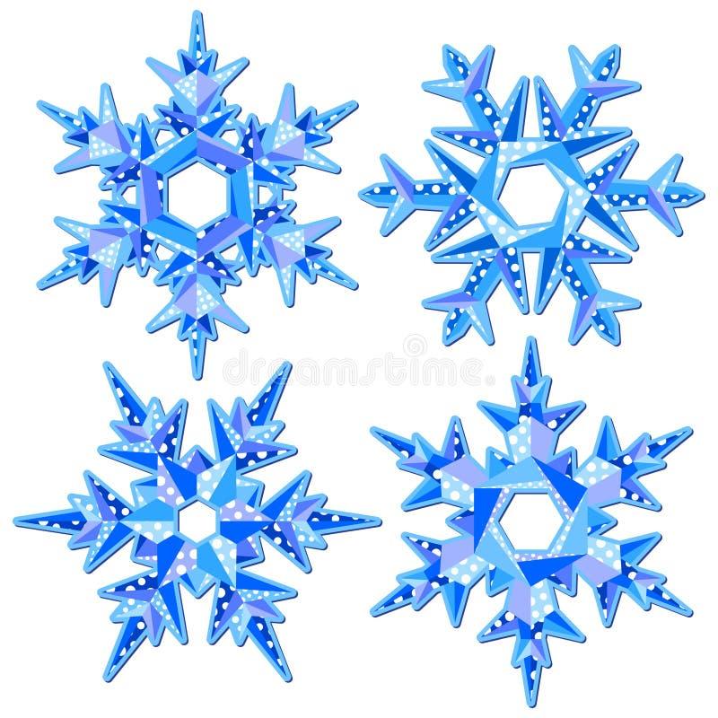 Origami płatek śniegu royalty ilustracja