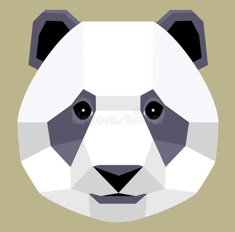 Origami Panda. The giant panda, Ailuropoda melanoleuca, is a bear. It lives in south central China. Although it belongs to the order Carnivora, the panda's diet stock image