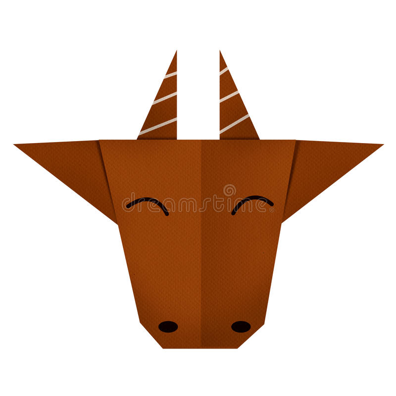 Free Origami Paper A Goat (face) Royalty Free Stock Image - 50554746