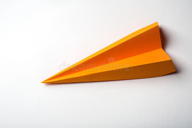 Origami paper airplane royalty free stock photo