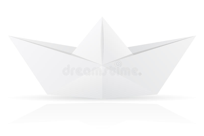 Origami Paper Boat Vector Illustration Stock Vector Illustration