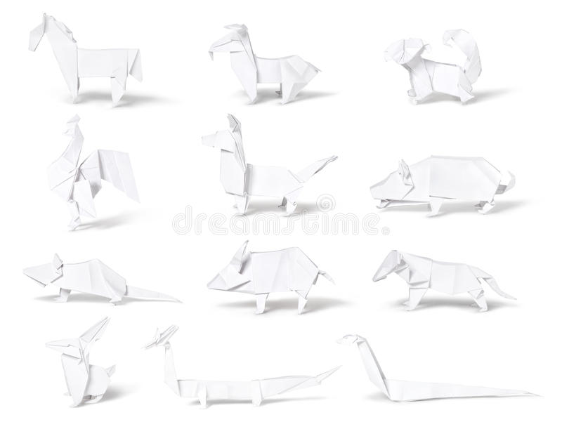 Origami, paper chinese zodiac royalty free stock photo