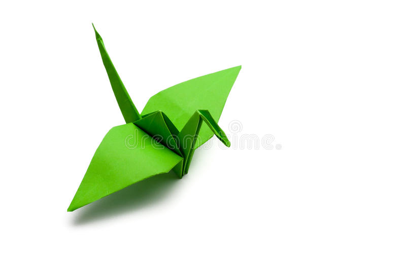 Origami paper crane stock photography