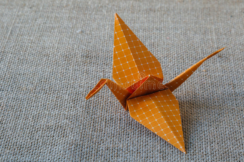 Origami paper crane royalty free stock photo