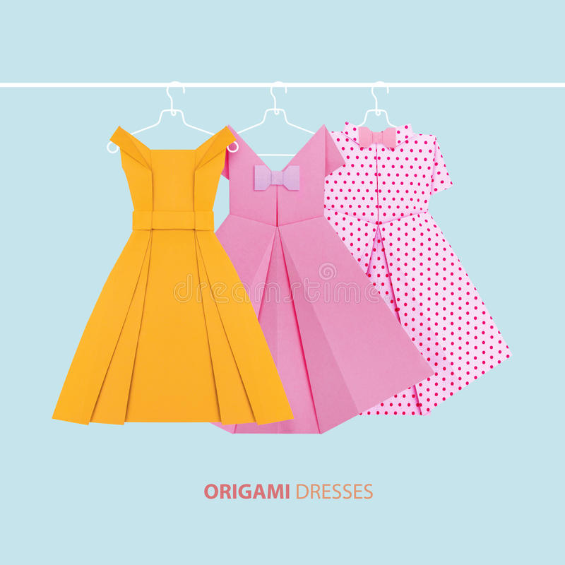 Origami Paper Dresses Stock Photo Image Of Symbol Sensuality