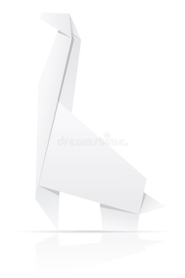 Download Origami Paper Giraffe Vector Illustration Stock