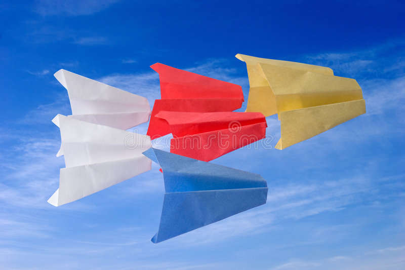 Download Origami paper planes stock image. Image of ideas, aspirations - 2787371