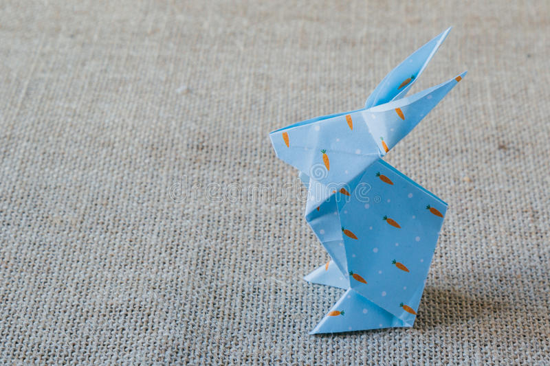 Origami paper rabbit royalty free stock photography