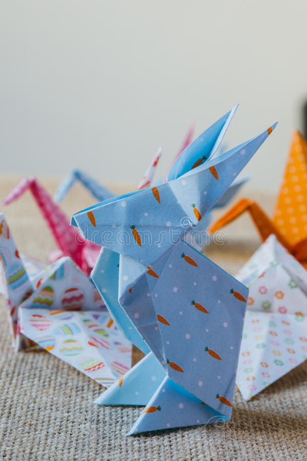 Origami paper rabbit royalty free stock image