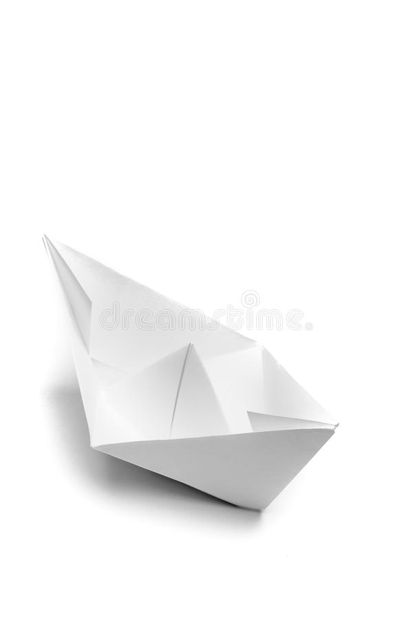 Origami paper ship royalty free stock photos