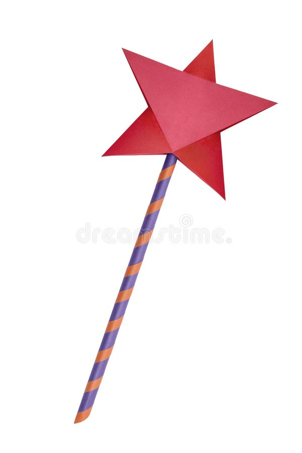 Origami paper star magic wand royalty free stock photography
