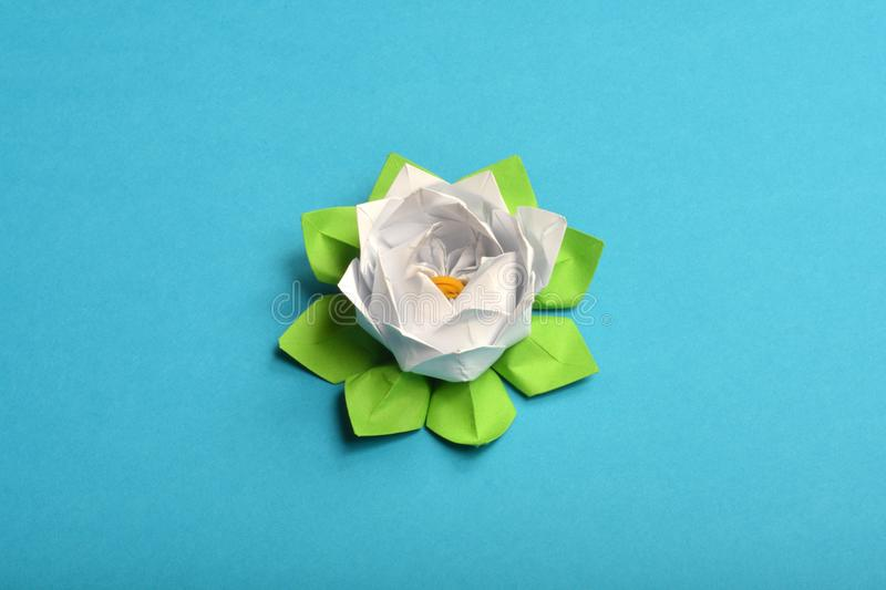 Download Origami Water Lily Stock Photo Image Of Hobby Flower