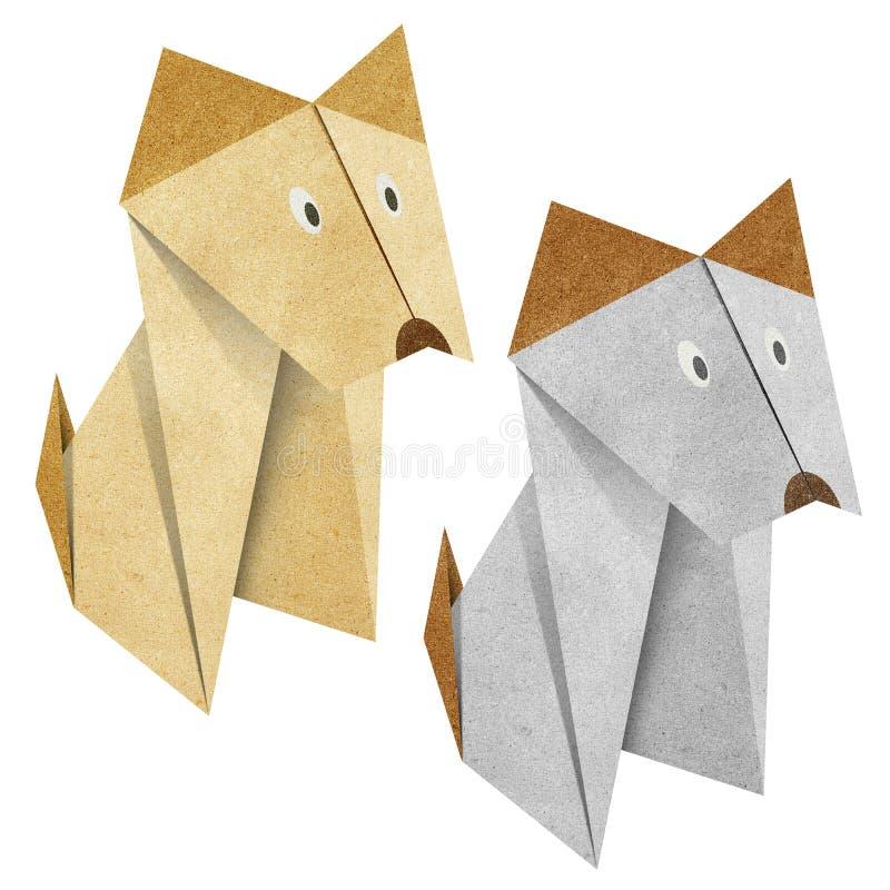 Origami Papercraft recicl cão ilustração stock