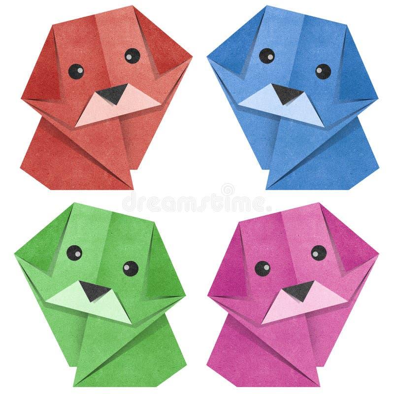 Origami Papercraft recicl cão foto de stock royalty free