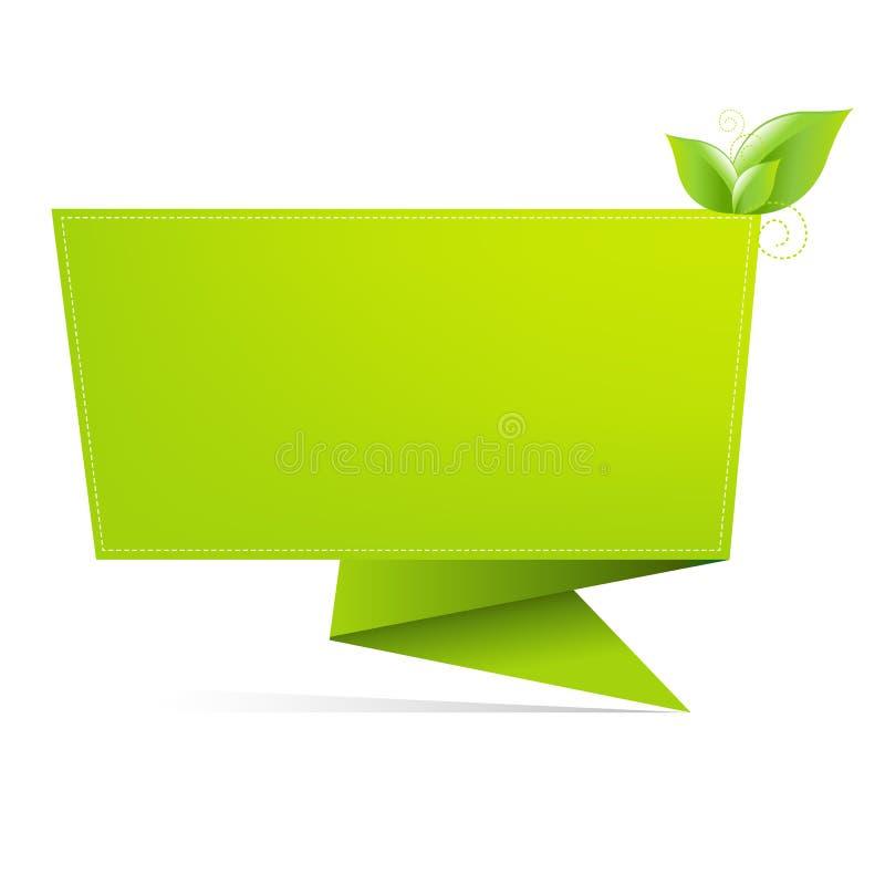 Origami Papier mit Blatt stock abbildung