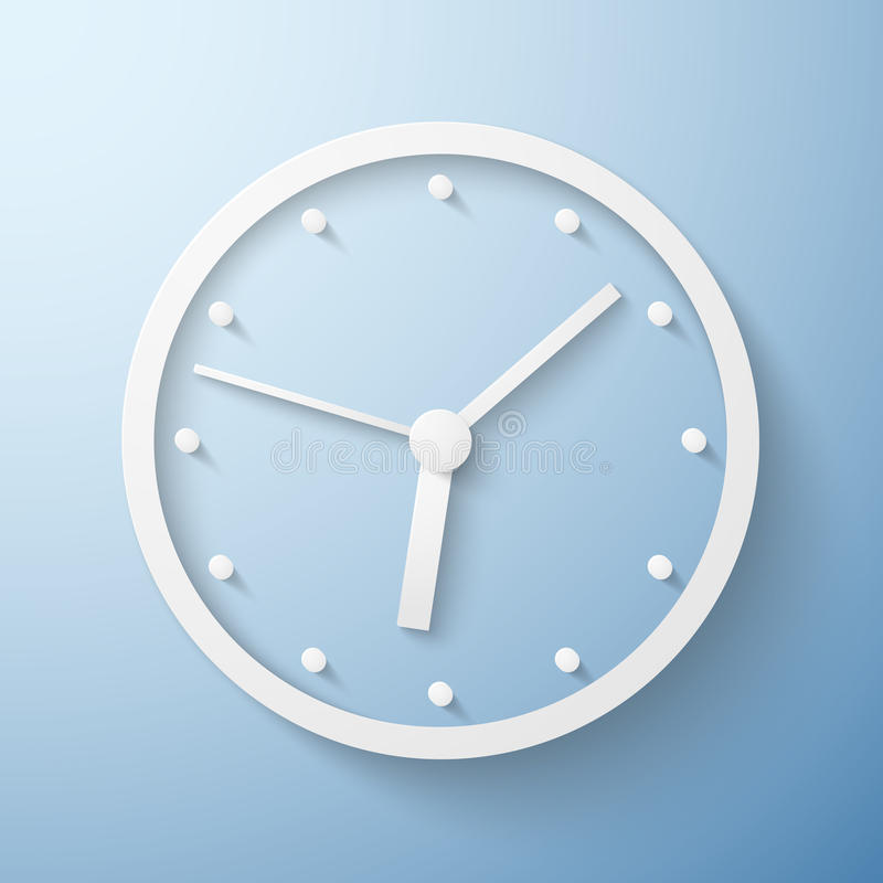 Origami papierowy ścienny zegarowy czas ilustracja wektor