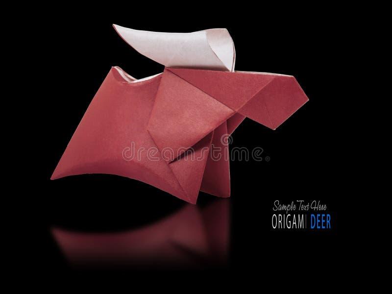 Origami papierowy brown rogacz obrazy stock