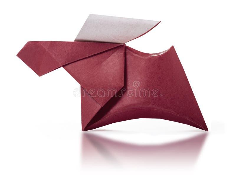 Origami papierowy brown rogacz zdjęcie royalty free
