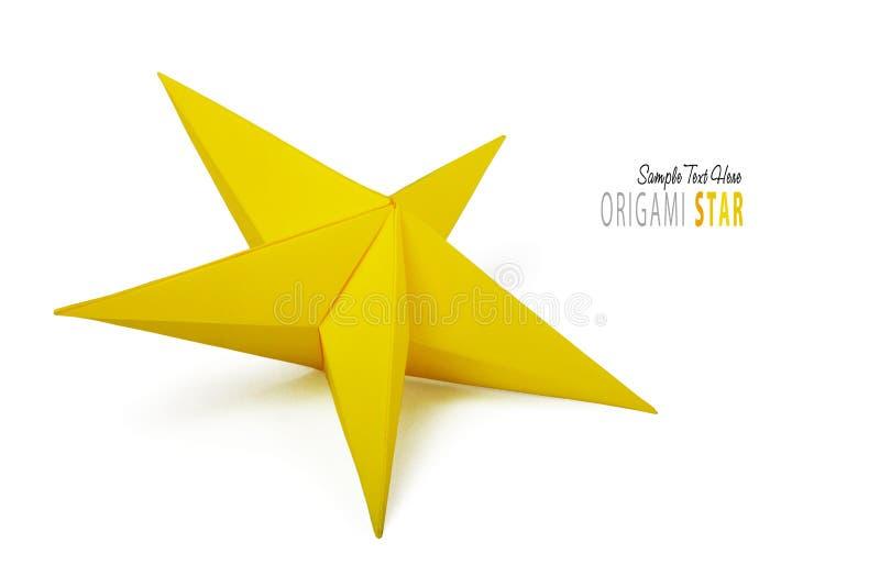 Origami papieru gwiazda ilustracji
