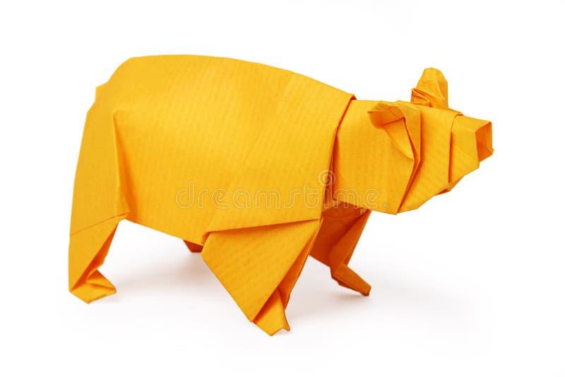 Origami papieru niedźwiedź zdjęcie royalty free