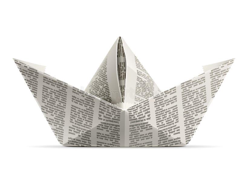 origami papieru statek ilustracja wektor