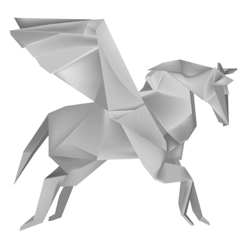 Origami_pegasus illustrazione vettoriale