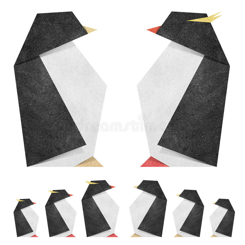 Origami Penquin Recycle Papercraft
