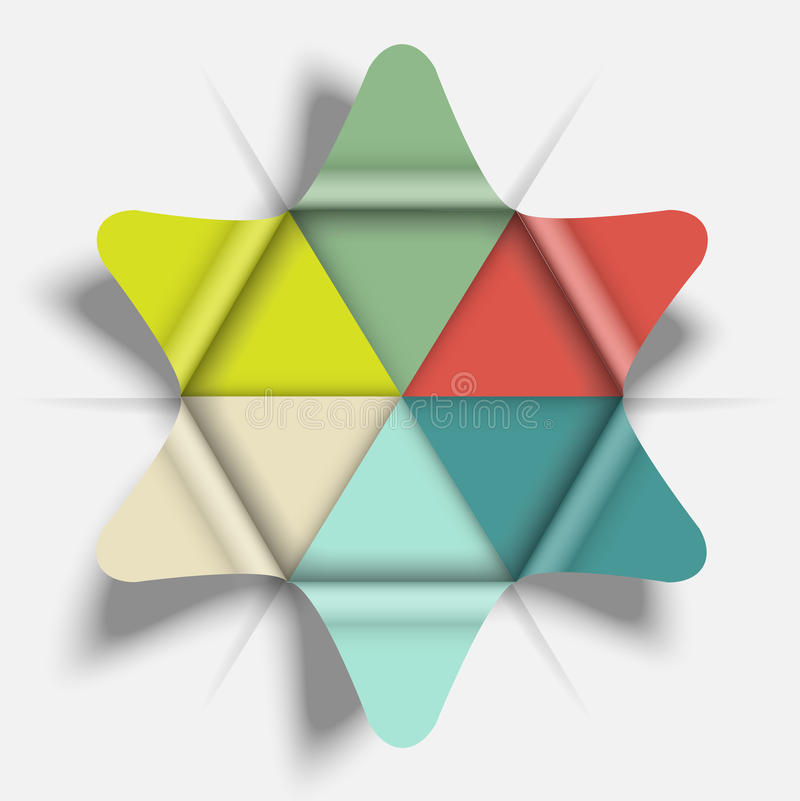 Origami process cycle design. Element vector illustration