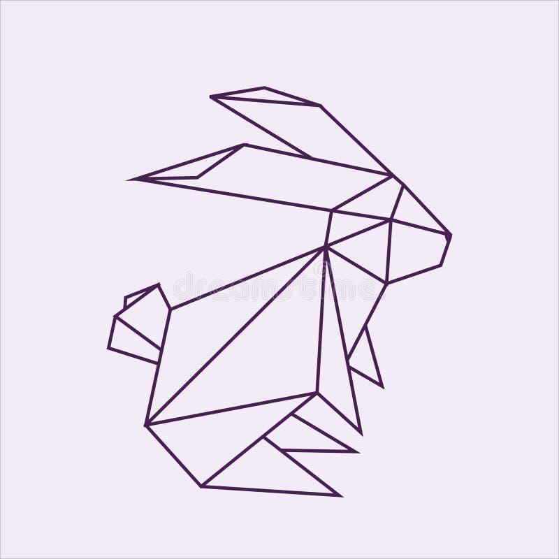 Download Origami Rabbit Stock Illustration Of Background
