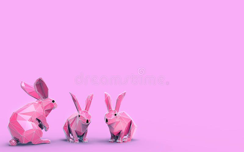 Origami Rabbit Low Poly. And Creativity Design vector illustration