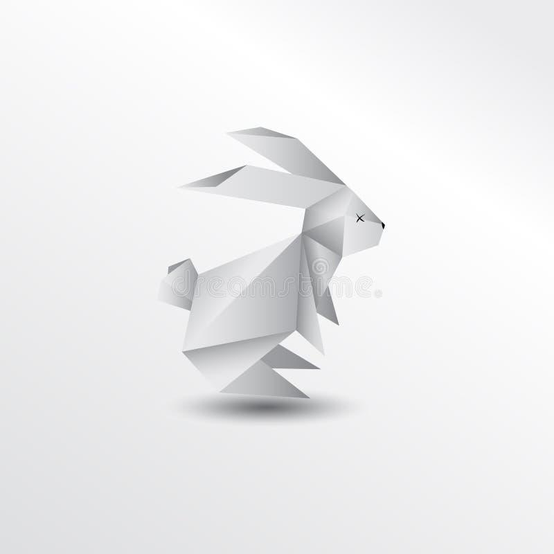 Origami rabbit. Prigami rabbit animal illustration mascot stock illustration