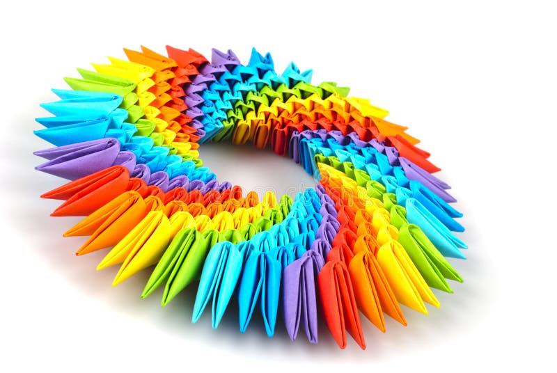 Origami rainbow 3d royalty free stock photography