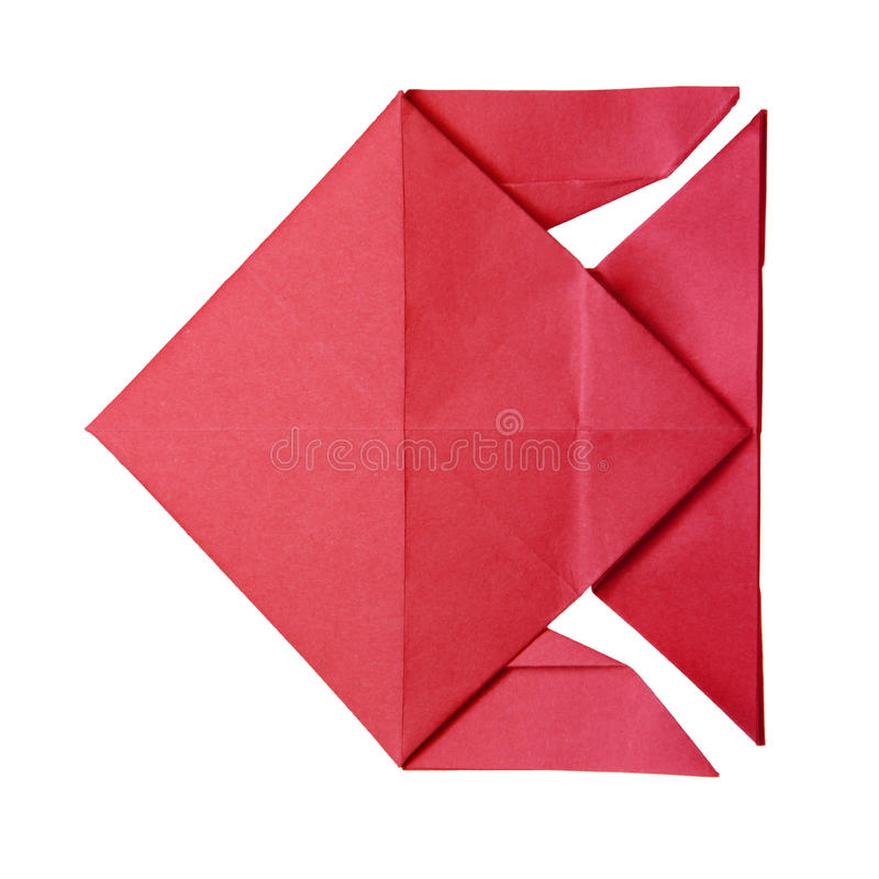 Origami red fish royalty free stock photos
