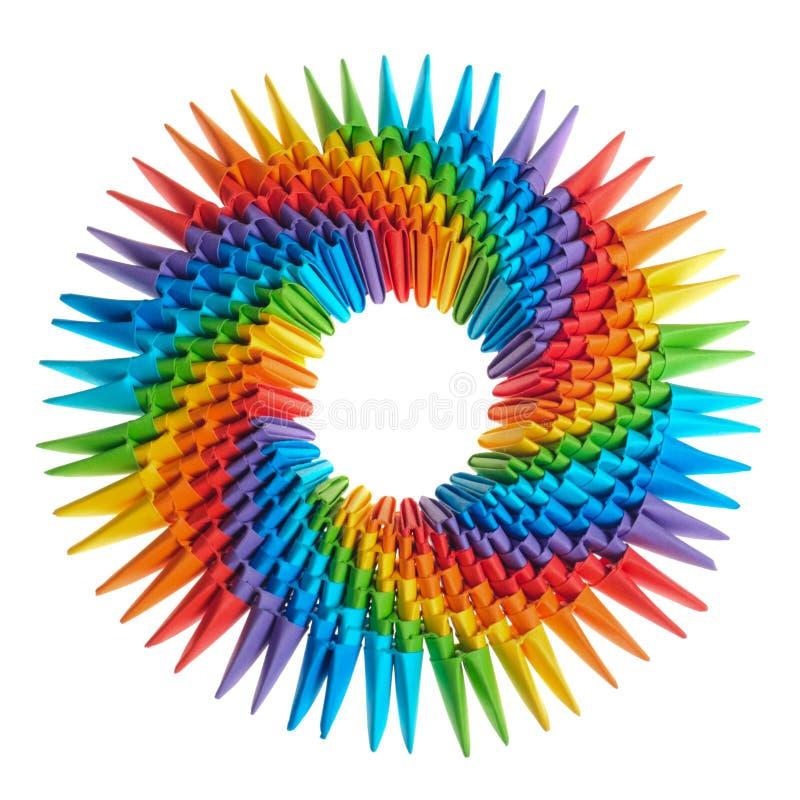 Origami Regenbogen 3d stockbild