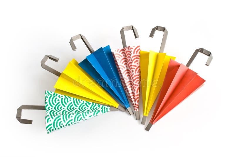 Origami Regenschirme stockfotografie