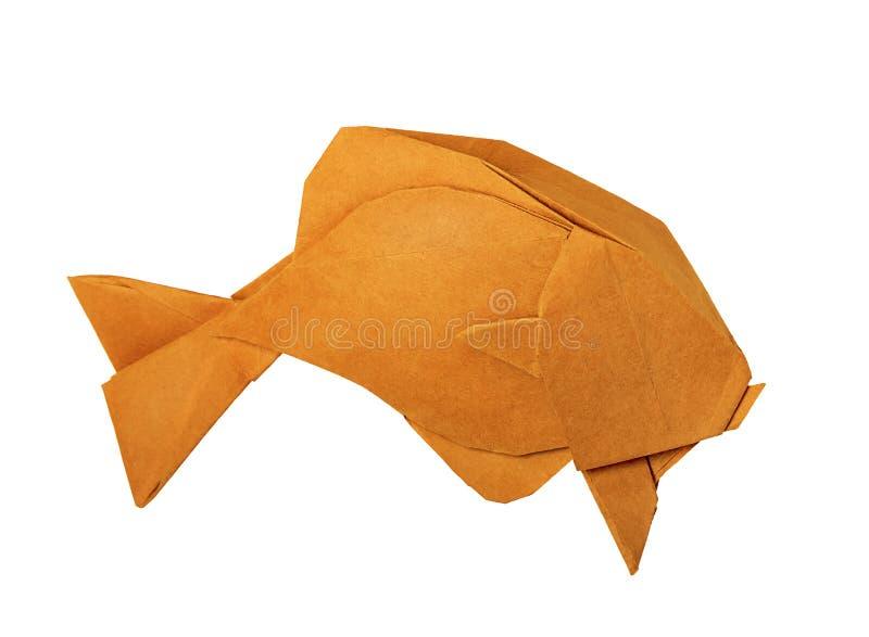 Origami rocznika złota ryba fotografia royalty free