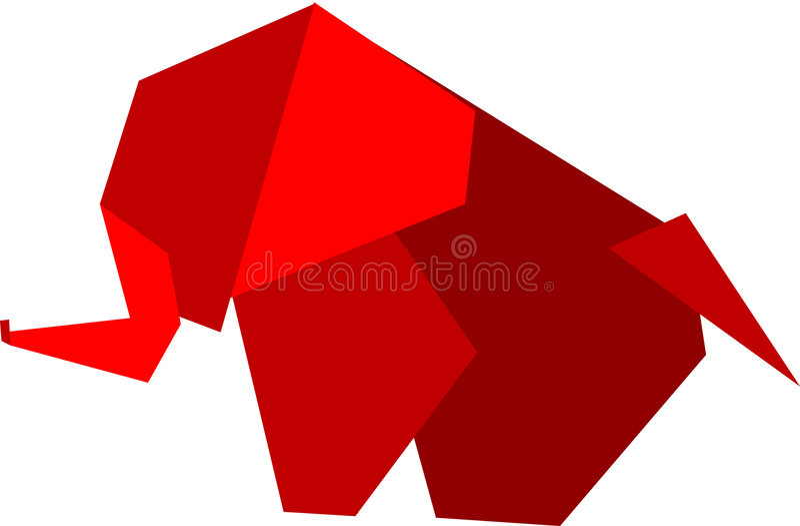 origami słonia ilustracji