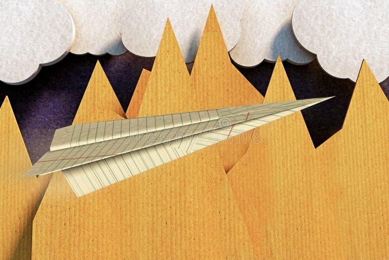 Origami samolot royalty ilustracja
