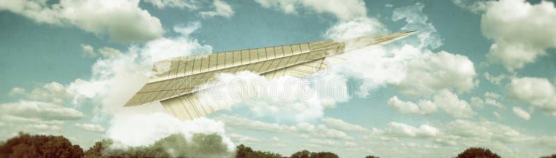 Origami samolot ilustracja wektor