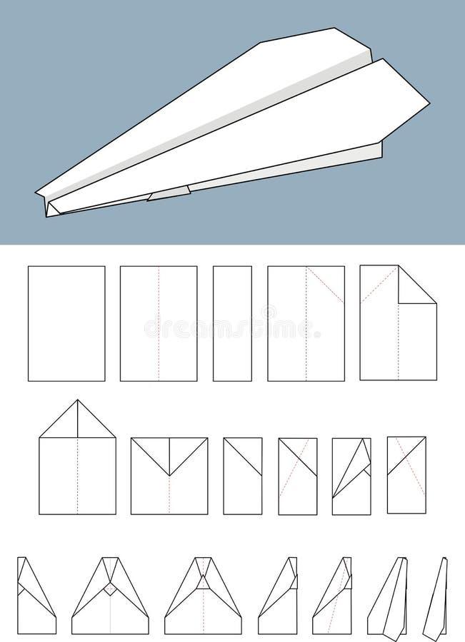 origami samolotowy papier ilustracja wektor