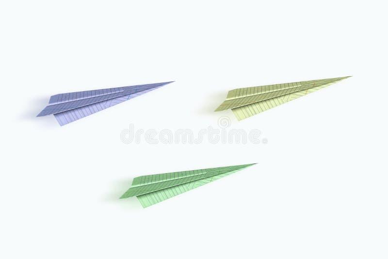 Origami samoloty royalty ilustracja