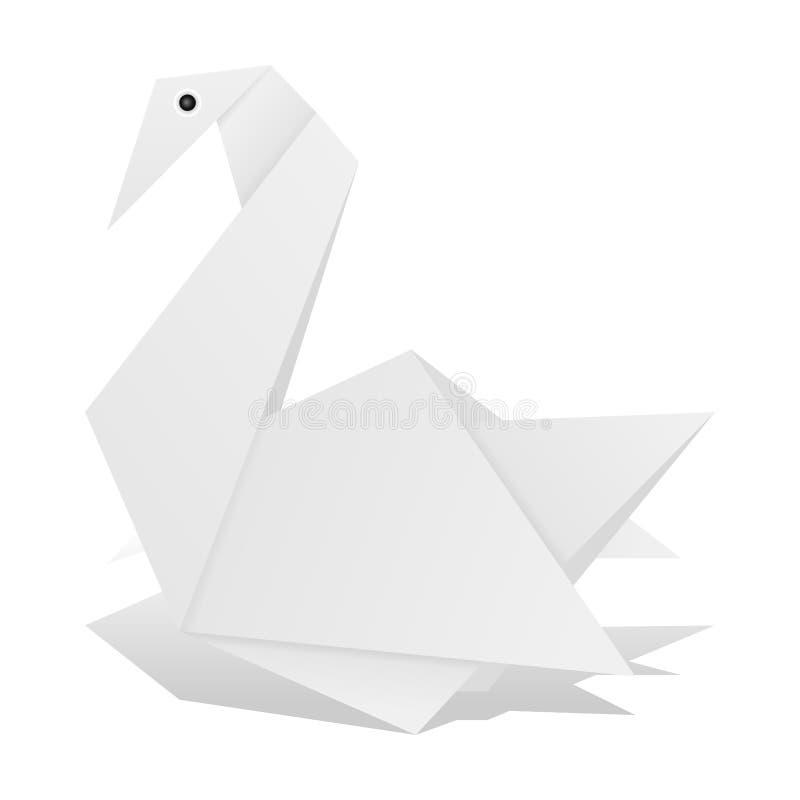 Origami Schwan vektor abbildung