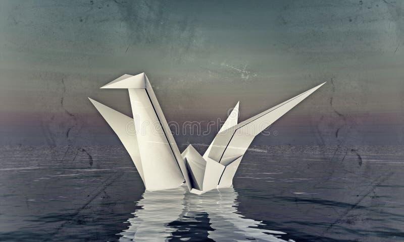 Origami Schwan stock abbildung
