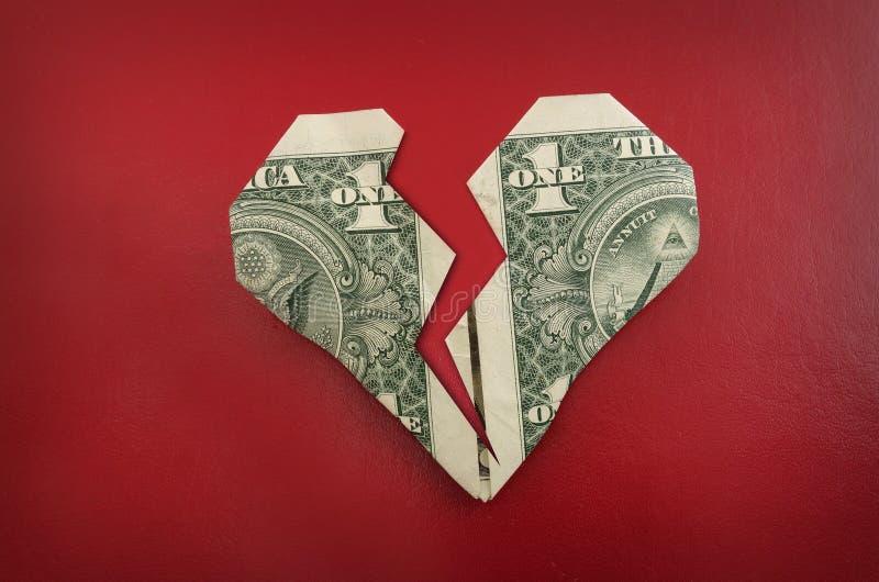 Origami serce obraz stock