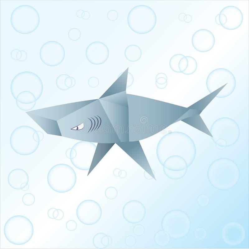 Origami Shark Stock Illustration Illustration Of Beach 93574877