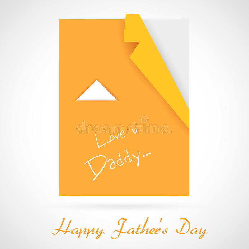 Origami Shirt for Father's Day vector illustration