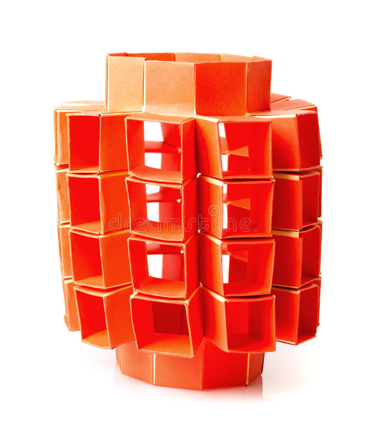 Origami snapology royalty free stock photo