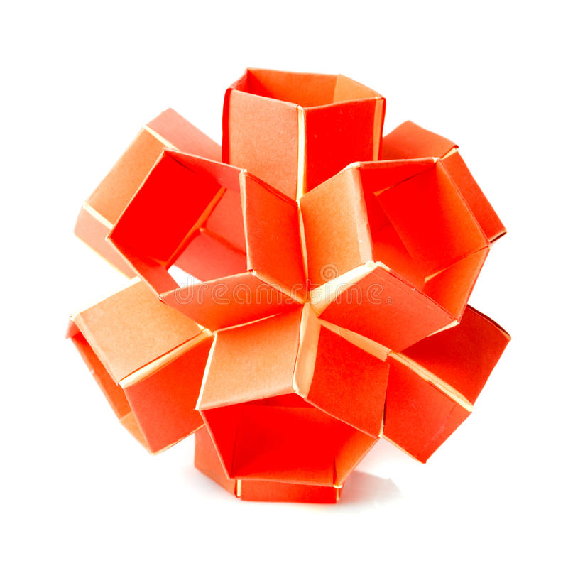 Origami snapology royalty free stock images