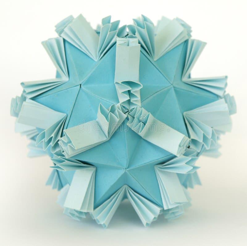 Origami snow royalty free stock photos
